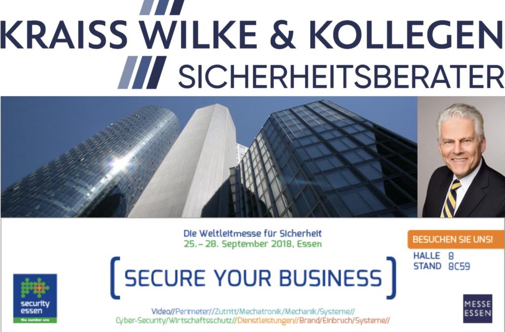 Ankündigung KWK GmbH auf Security Essen 2018